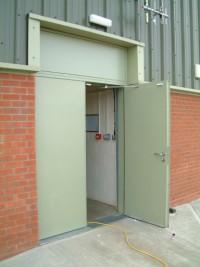 Open Steel Hinged Door